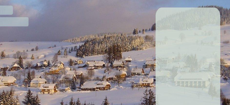 Winter in Bernau Bernau im Schwarzwald